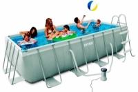 Бассейн каркасный Intex Rectangular Ultra Frame Pool 400х200х100см