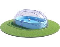 Павильон для бассейна овальной формы, материал ПВХ